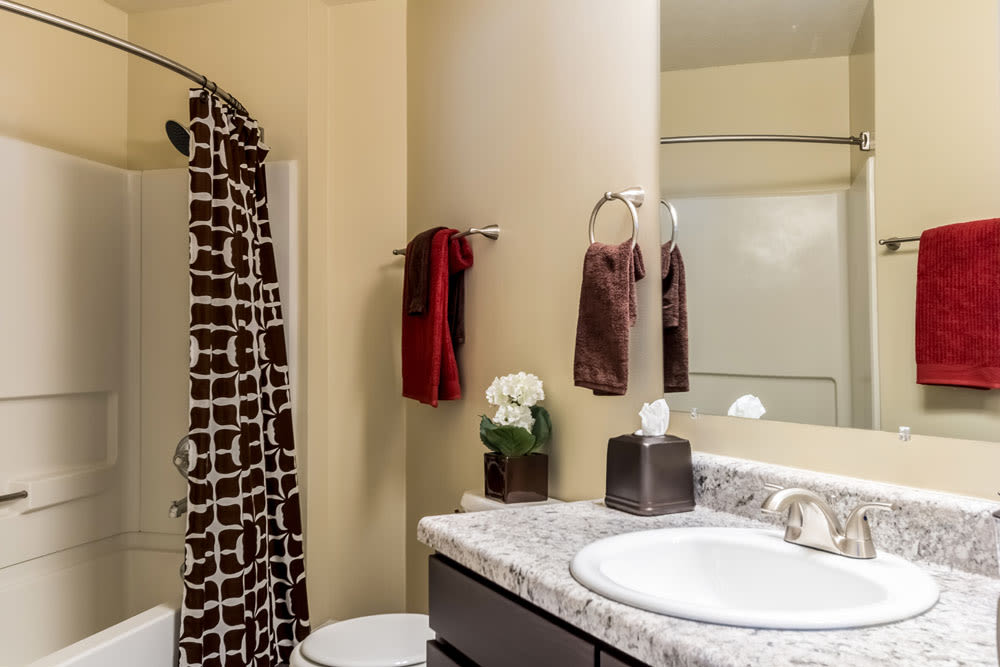 Another view of the well decorated model bathroom at Sycamore Ridge in Dublin, Ohio