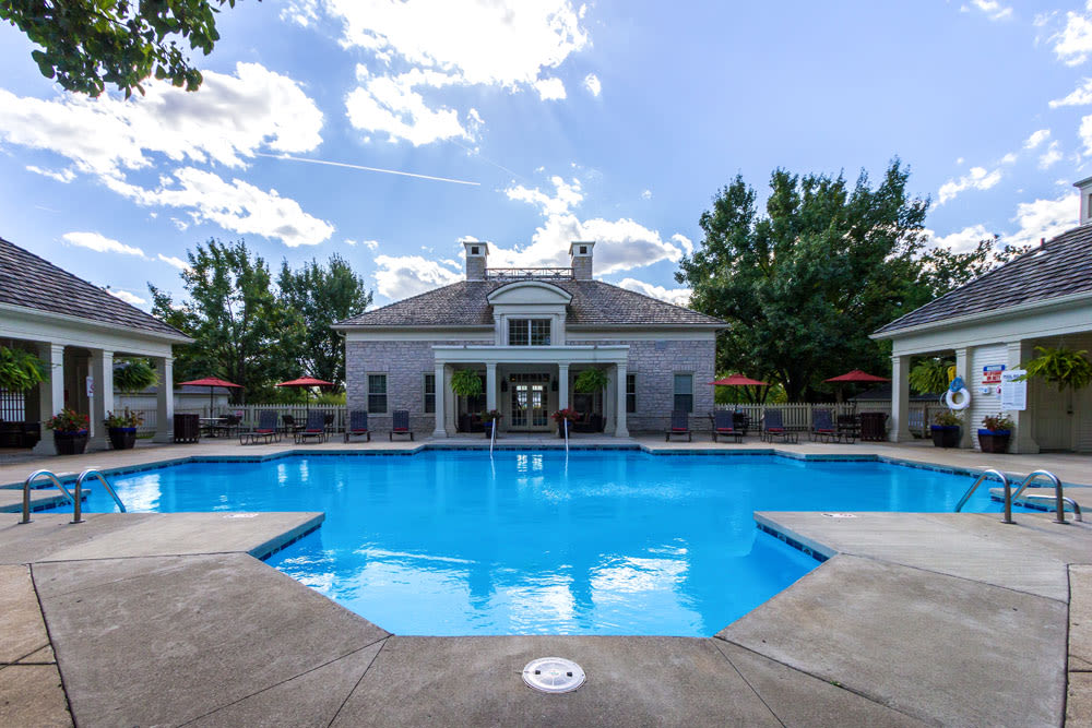 Clubhouse View from swimming pool at Sycamore Ridge in Dublin, Ohio