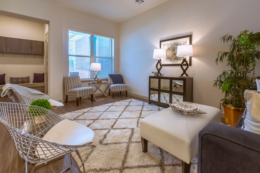 Living room at The Luxe at Cedar Hill in Cedar Hill, Texas