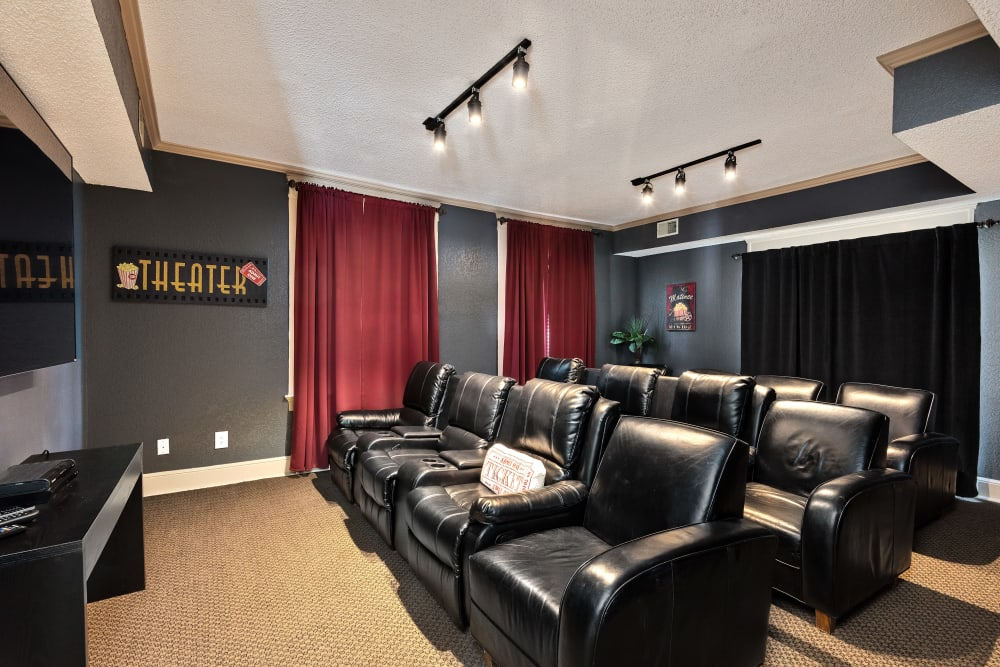 Resident movie theater at The Mansion in Independence, Missouri