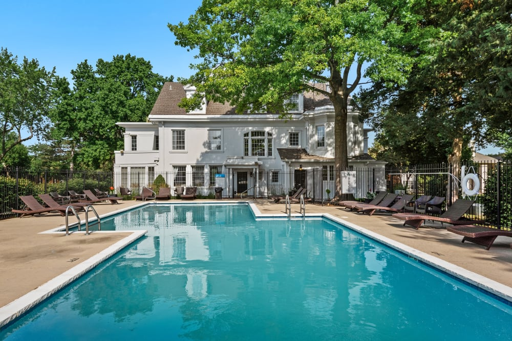 Resort style pool at The Mansion in Independence, Missouri