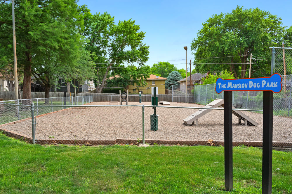 On site dog park at The Mansion in Independence, Missouri