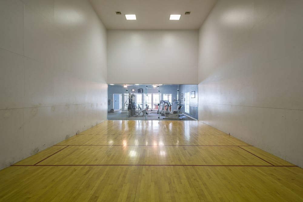 Racquetball court at The Mansion in Independence, Missouri