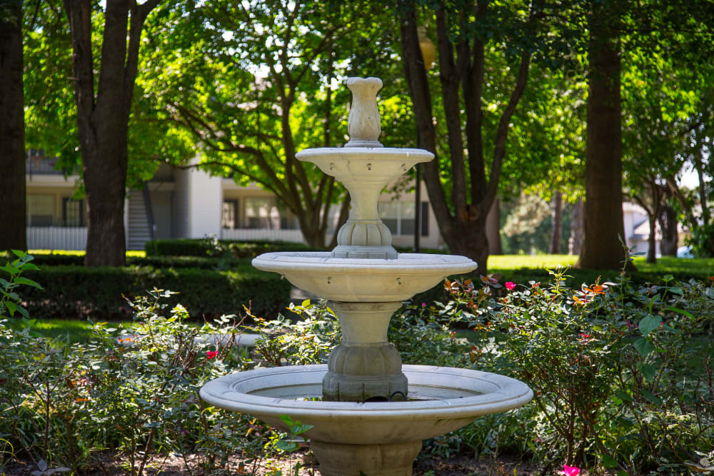 Decorative fountain at The Mansion in Independence, Missouri