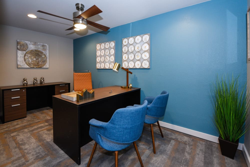 Apartment manager desk at Ten 30 and 49 Apartments in Broomfield, Colorado