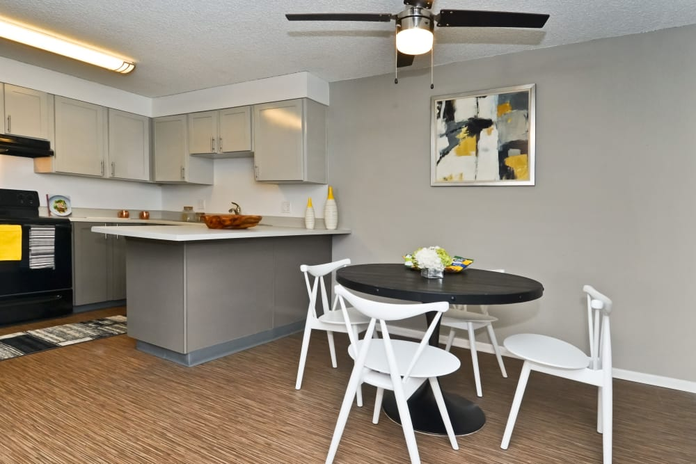 Open concept floor plan with Hardwood floors at Ten 30 and 49 Apartments in Broomfield, Colorado
