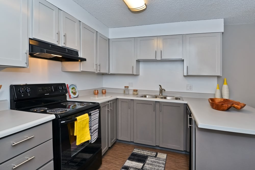 Large model kitchen with plenty of counter space at Ten 30 and 49 Apartments in Broomfield, Colorado