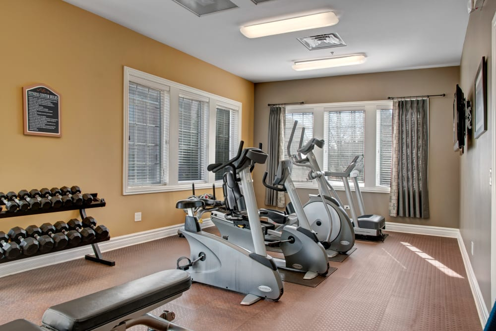 Fitness center available at The Gates of Deer Grove in Palatine, Illinois