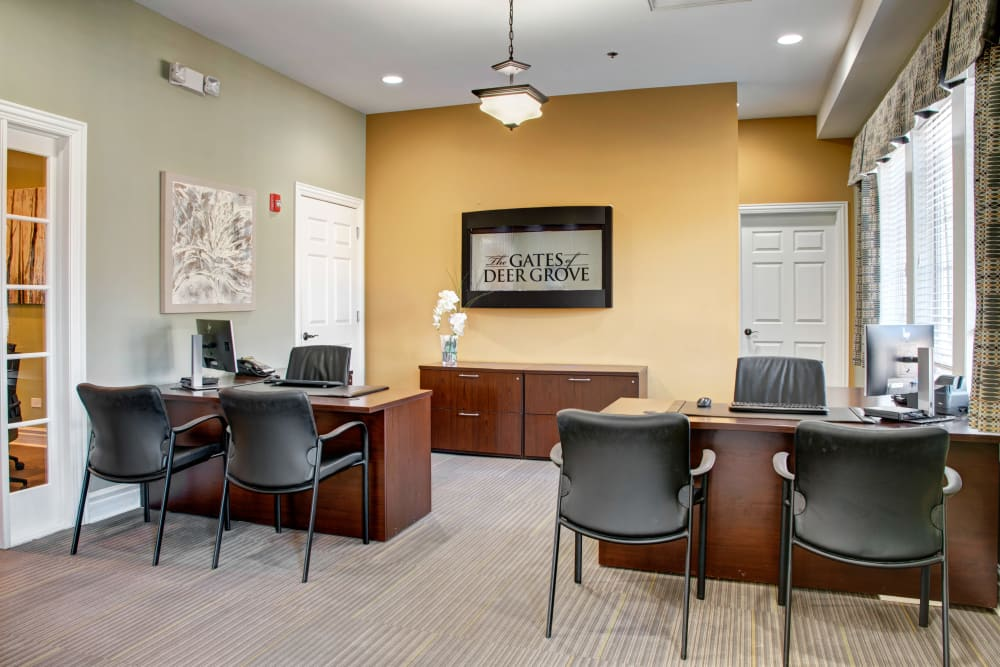 Leasing office at The Gates of Deer Grove in Palatine, Illinois
