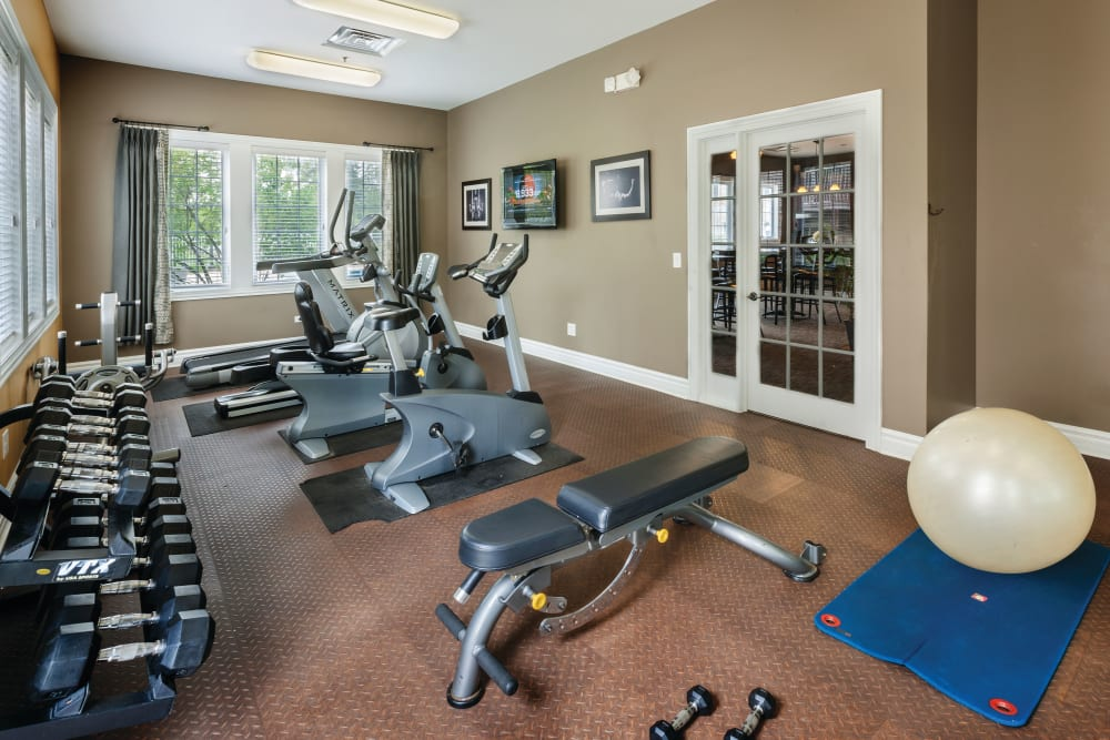 Well equipped fitness center at The Gates of Deer Grove in Palatine, Illinois