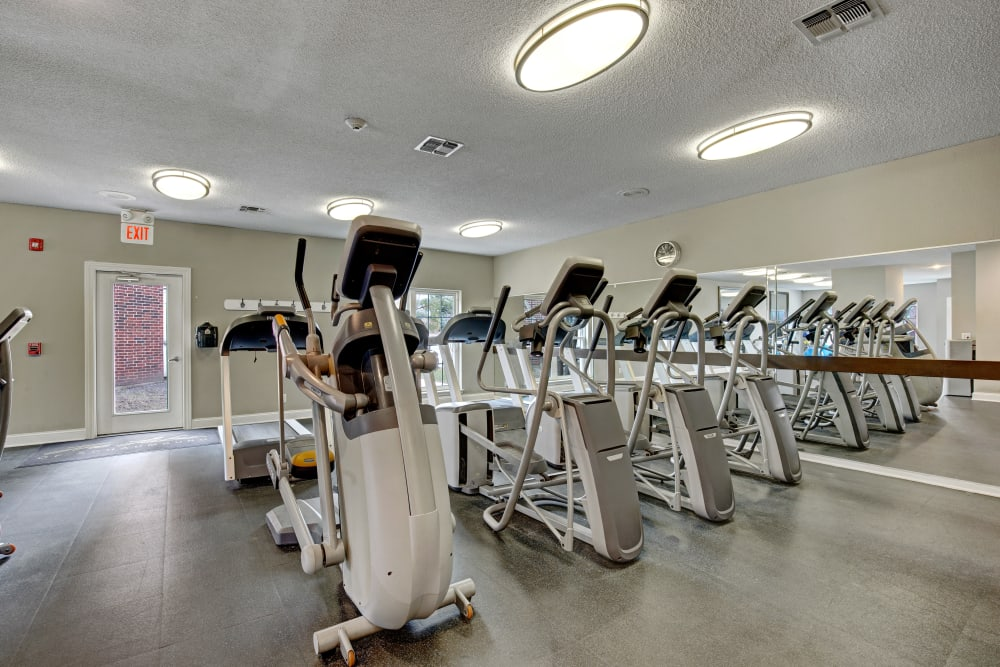 Plenty of stationary bikes in the fitness center at The Lakes of Schaumburg in Schaumburg, Illinois
