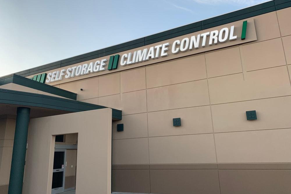 Exterior view of the building at Superior Self Storage in El Dorado Hills, California