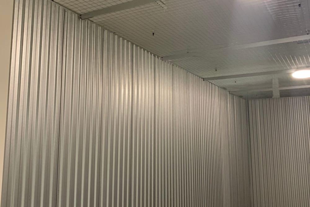 Inside view of a storage unit at Superior Self Storage in El Dorado Hills, California