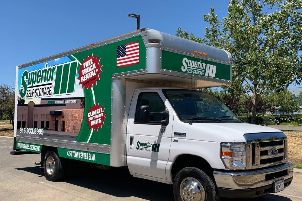 Moving truck at Superior Self Storage in El Dorado Hills, California