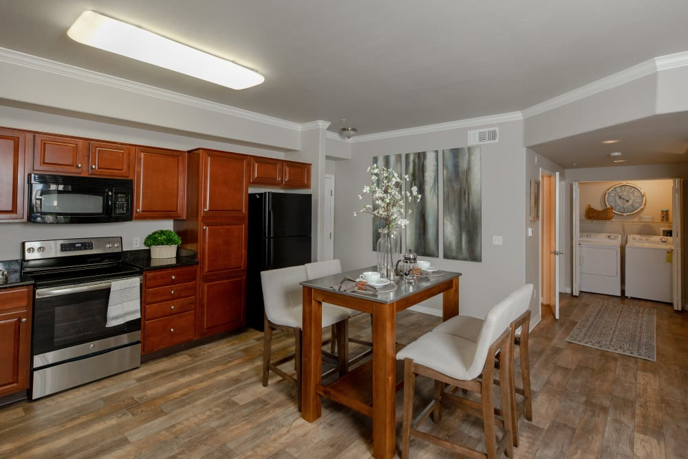 Kitchen with plenty of cabinet space at Wolf Ranch Condominium Rentals in Sacramento, California