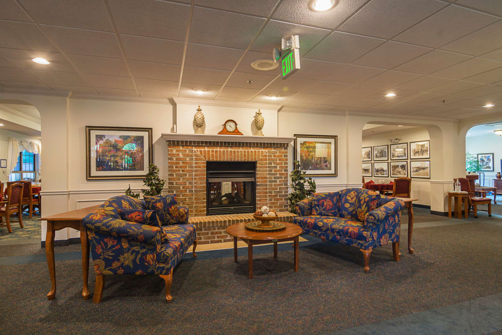 Assisted Living and Memory Care Fireplace in Michigan City Indiana