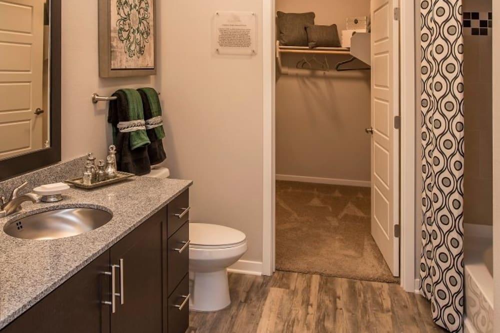 Bathroom at Luxe Scottsdale Apartments in Scottsdale, Arizona