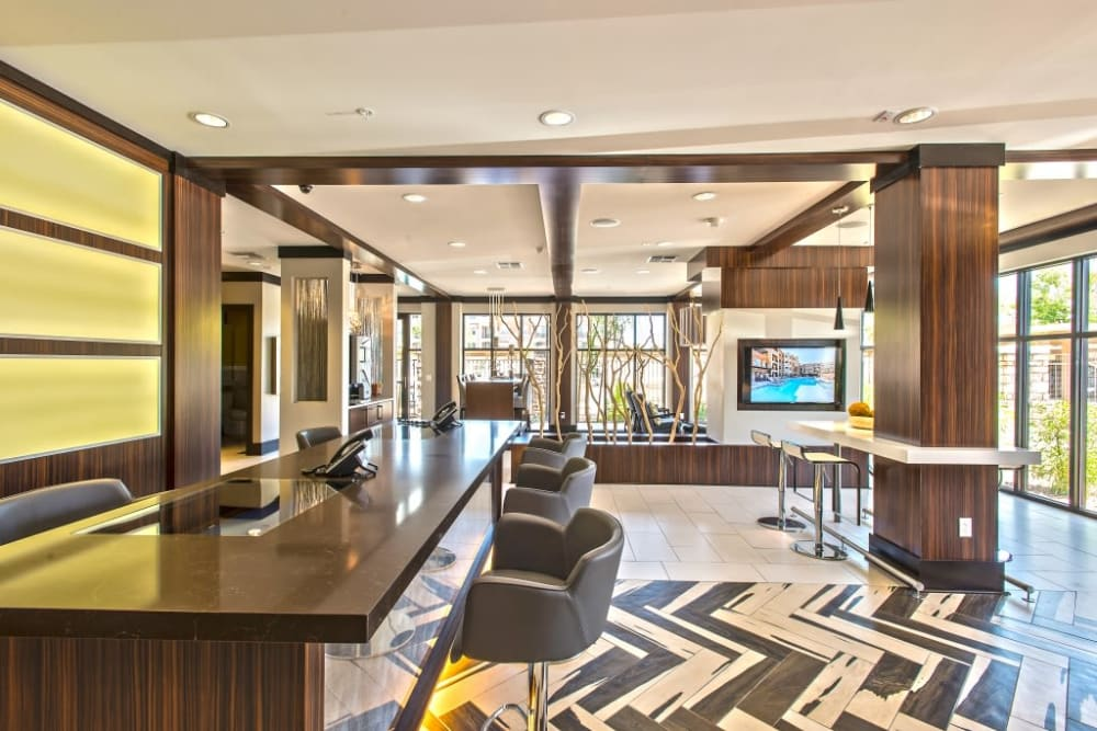 Clubhouse at Luxe Scottsdale Apartments in Scottsdale, Arizona