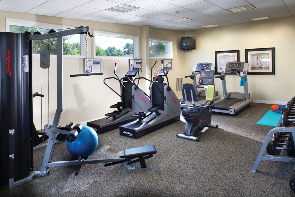 Fitness center at The Village at Marshfield in Marshfield, Massachusetts