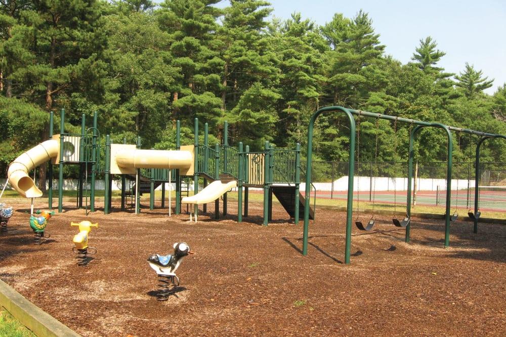 Children's playground on site at The Village at Marshfield in Marshfield, Massachusetts