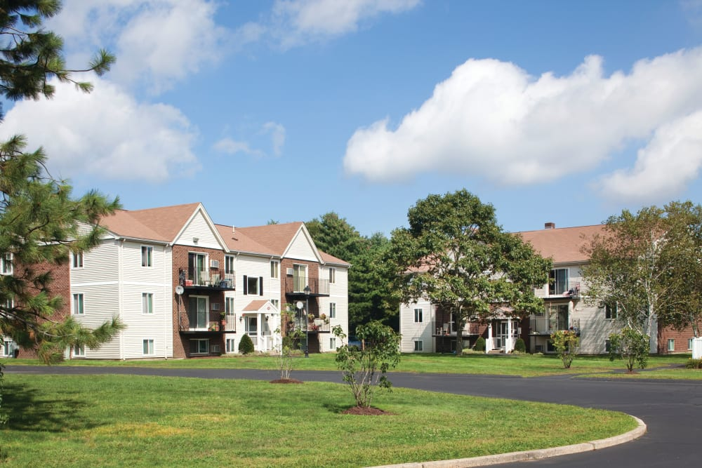 Another view of the Complex exterior at The Village at Marshfield in Marshfield, Massachusetts