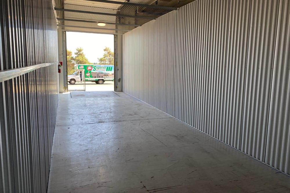 Inside of a unit at Superior Self Storage in El Dorado Hills, California
