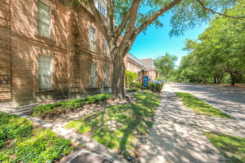 Complex exterior at The Villages at Meyerland in Houston, Texas