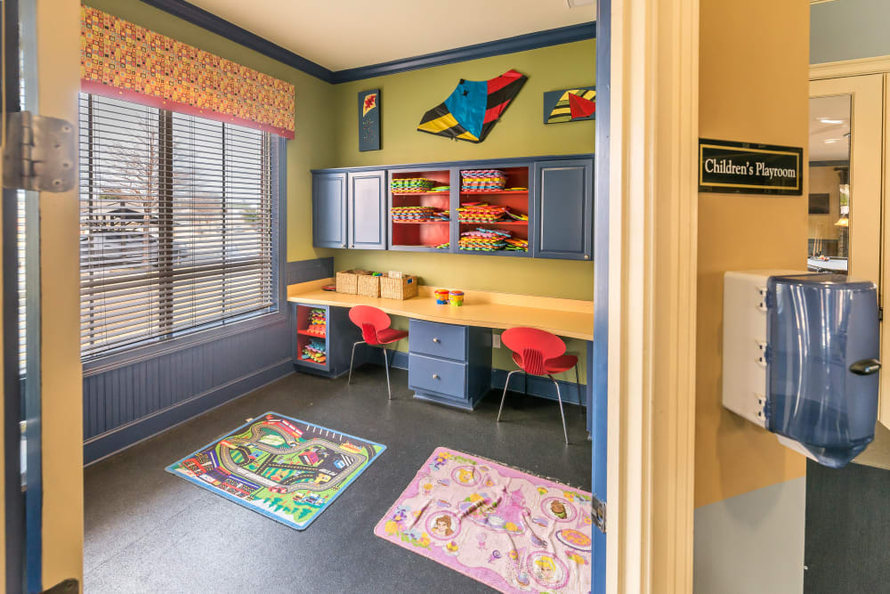 Children's play room at Vista 121 Apartment Homes in Lewisville, Texas