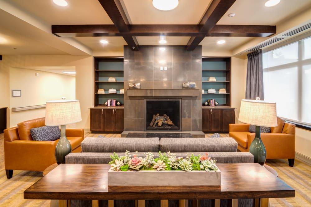 Seating area with couches at Renton, Washington.