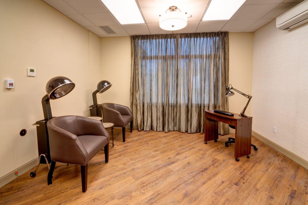 Onsite salon at Mission Healthcare at Renton in Renton, Washington.