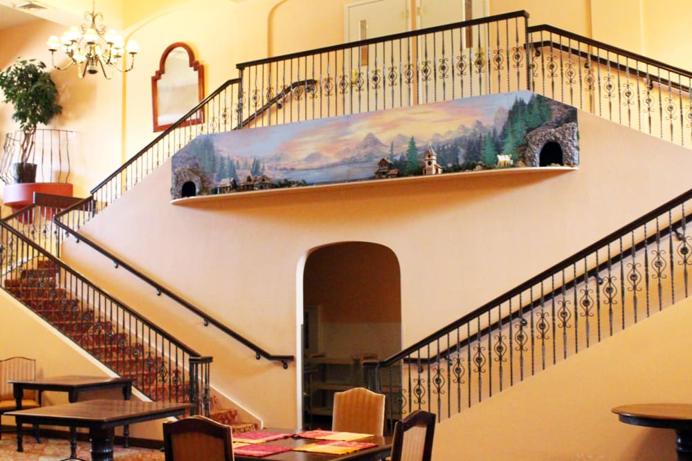 Stairs at Pennington Gardens