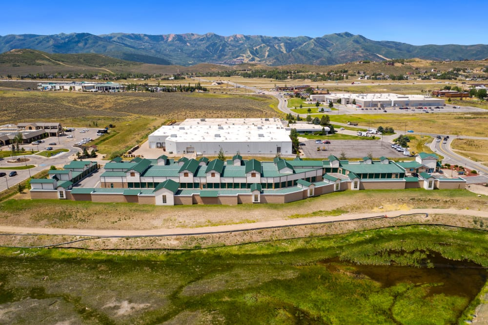 Aerial view of Market Place Self Storage in Park City, Utah