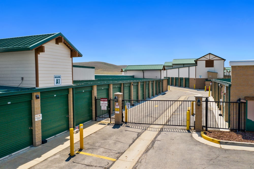 Gated access for units at Market Place Self Storage in Park City, Utah