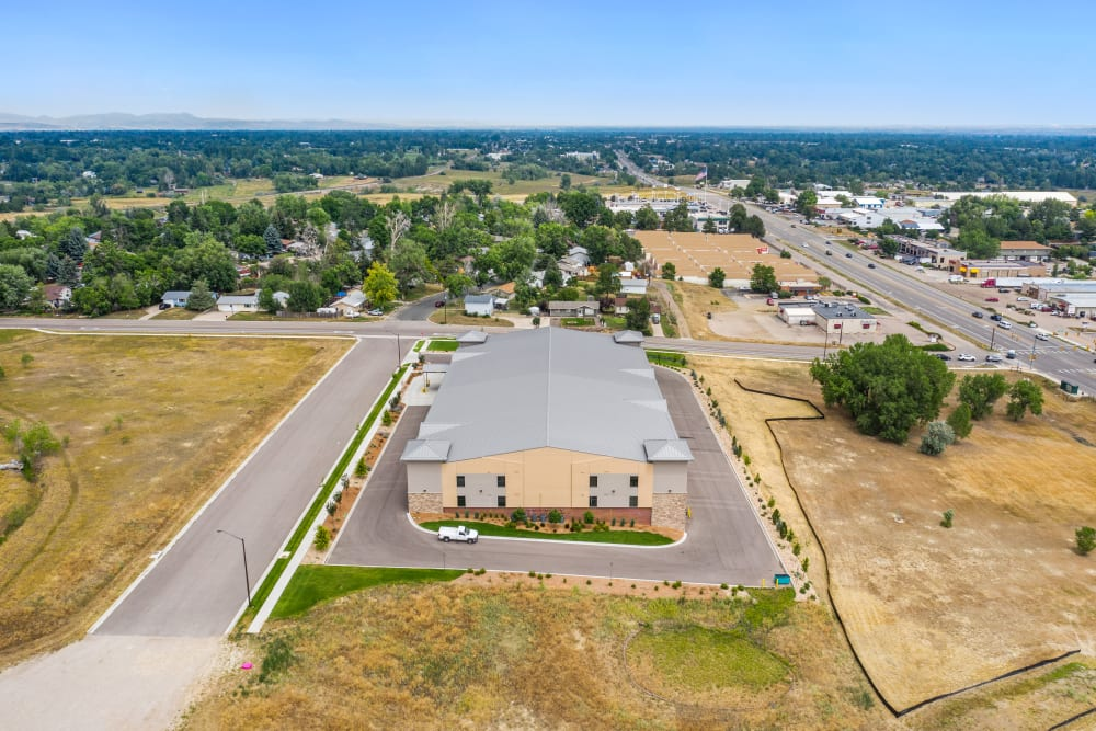 Aerial view of Storage Star South College in Fort Collins, Colorado