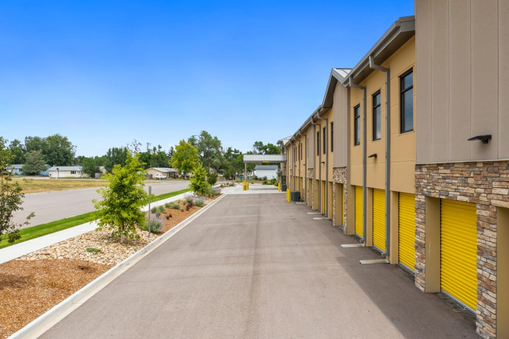 View of the units from outside at Storage Star South College in Fort Collins, Colorado