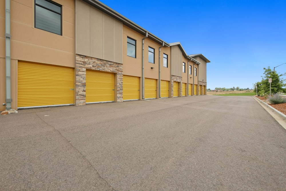 Exterior units available at Storage Star South College in Fort Collins, Colorado