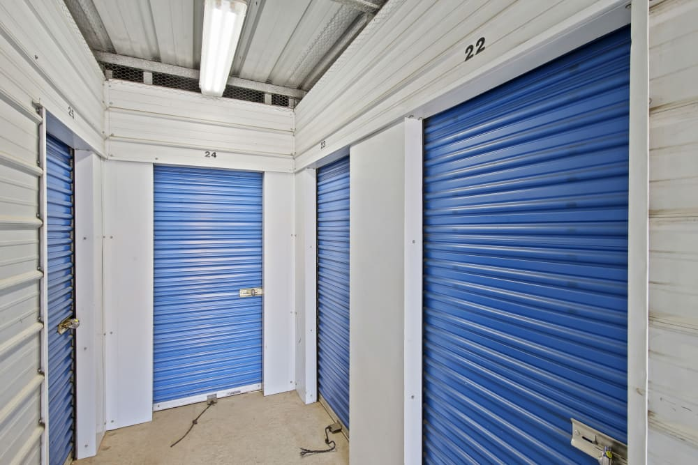 Climate controlled storage units at Storage Star Manteca in Manteca, California