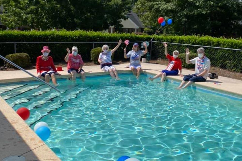 Swimming Pool at Savannah Court of Camilla Senior Living