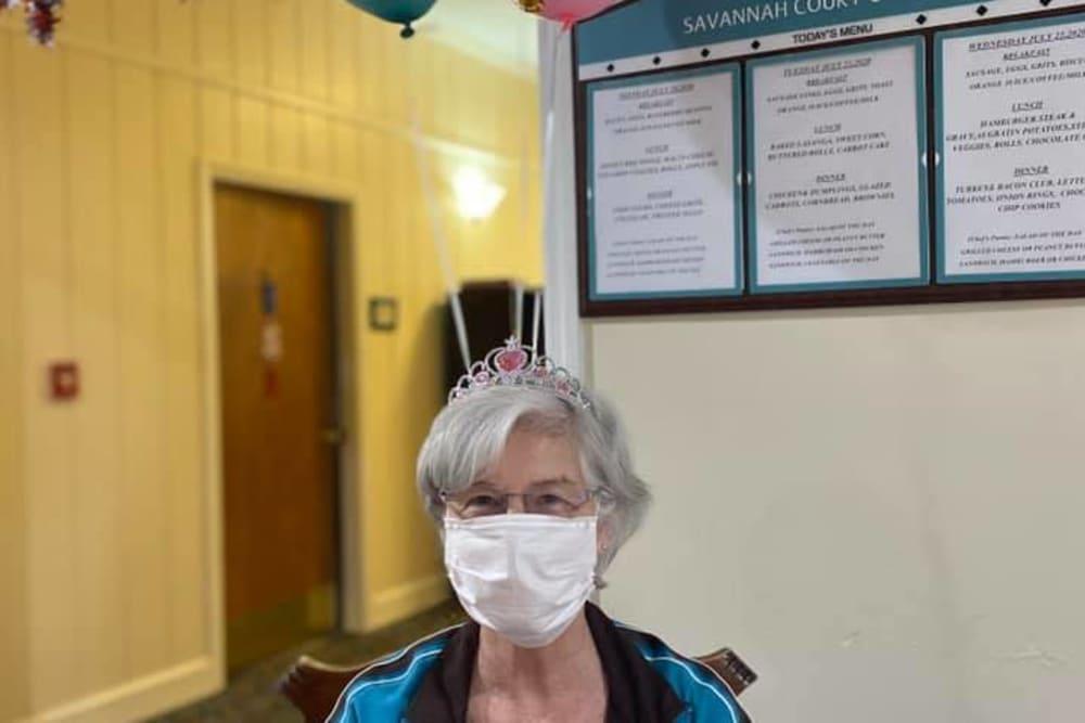 Resident at Savannah Court of Camilla Senior Living