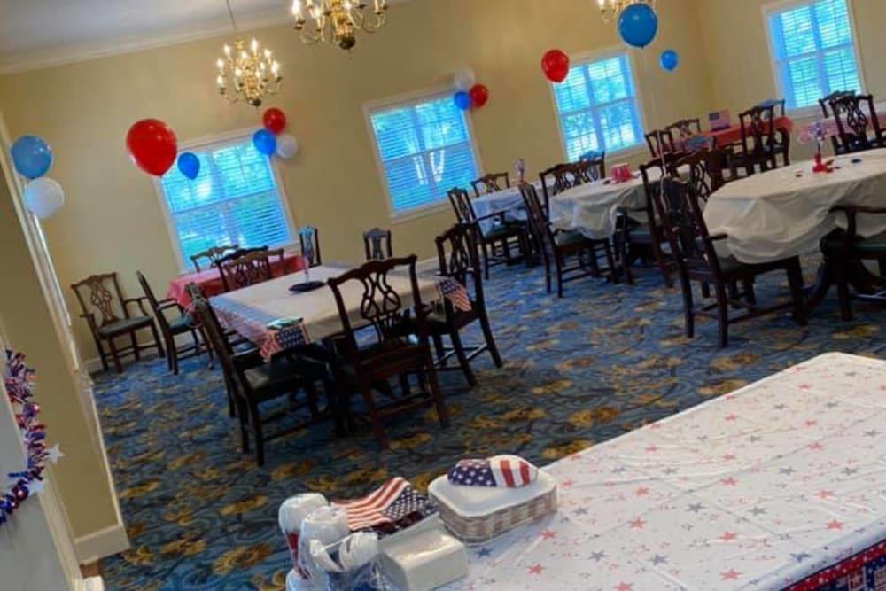 Dining Room at Savannah Court of Camilla Senior Living