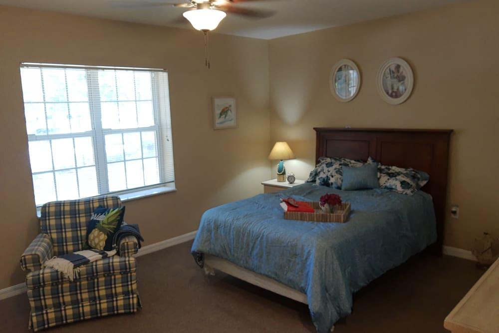Bedroom at Savannah Court of Camilla Senior Living