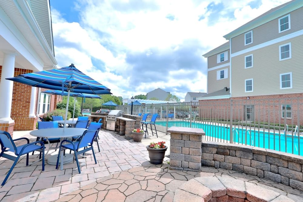 Pool Patio at Orchard Meadows Apartment Homes in Ellicott City, Maryland