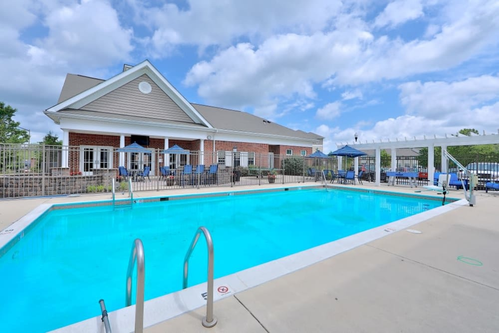 Pool Area at Orchard Meadows Apartment Homes in Ellicott City, Maryland