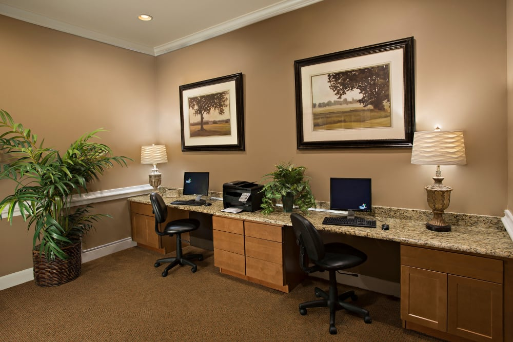 Business Center at Estancia at Ridgeview Ranch in Plano, Texas