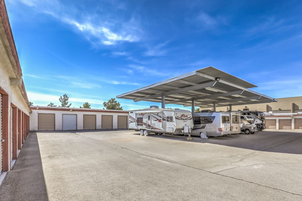 Recreational vehicle storage at Crown Self Storage in N Las Vegas, Nevada