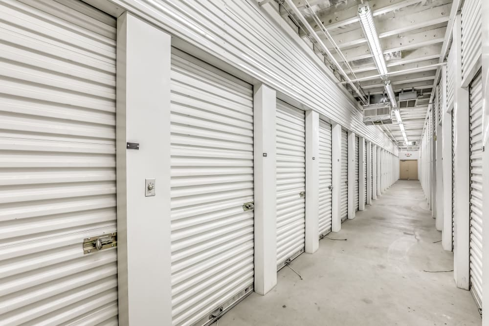 Interior storage units at Crown Self Storage in N Las Vegas, Nevada