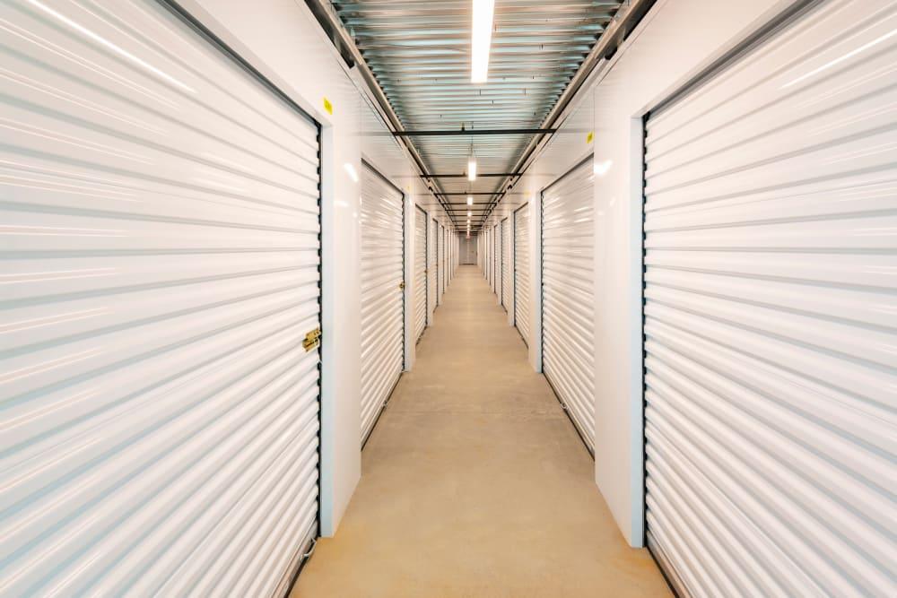 Storage units hallway at Mesa, Arizona