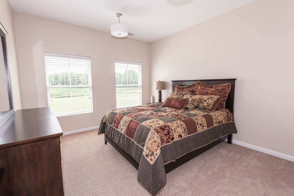 Spacious bedroom suite at Legacy Living Florence in Florence, Kentucky