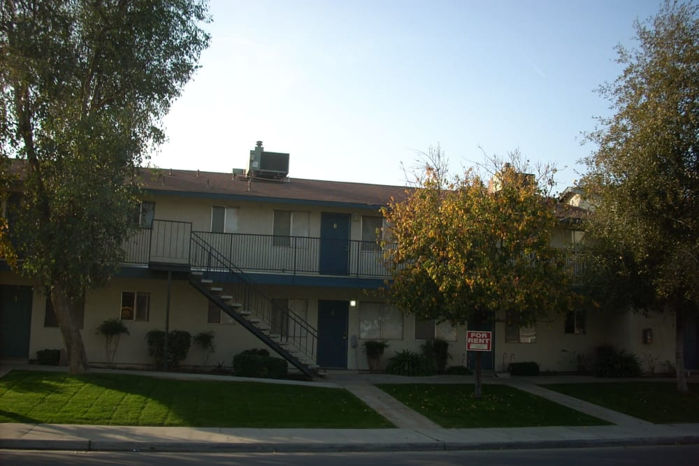 Far away view of El Potrero Apartments in Bakersfield, California