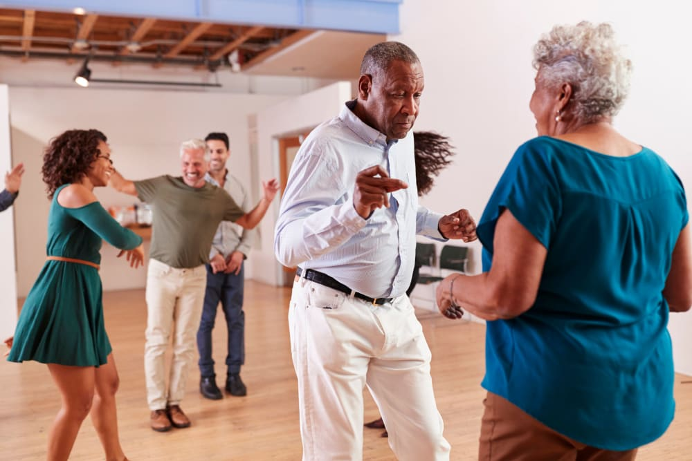 Dancing at Ramsey Village Continuing Care in Des Moines, Iowa